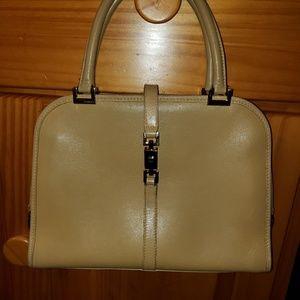 "Gucci lite tan Leather Bag 11.25""Lx8.5""H"
